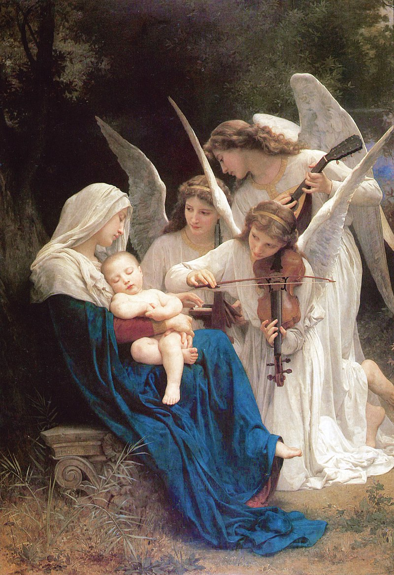 800px William Adolphe Bouguereau 1825 1905 Song of the Angels 1881